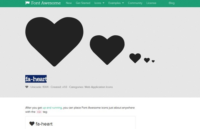 fa-heart- Font Awesome Icons