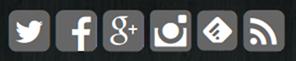 黒背景にソーシャルページボタン