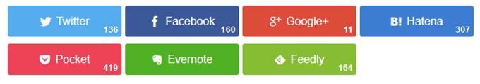 固定ページのバイラルシェアボタン