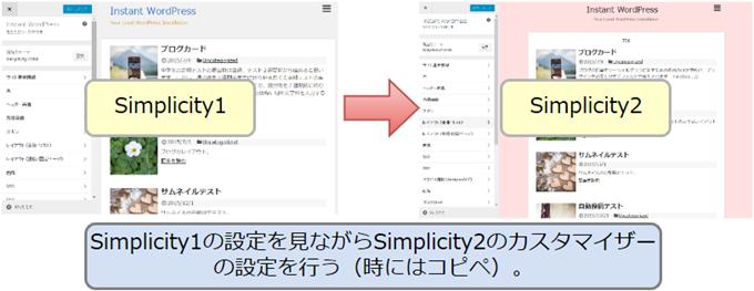 Simplicity1系からSimplicity2へのテーマカスタマイザー設定の移行