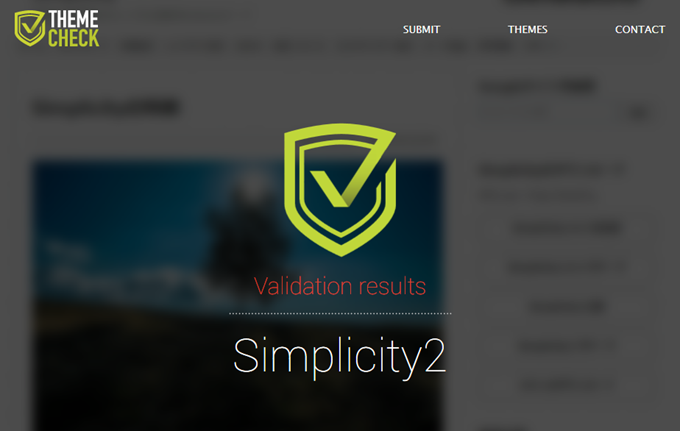 Simplicity2.5.0e - WordPress theme - Review