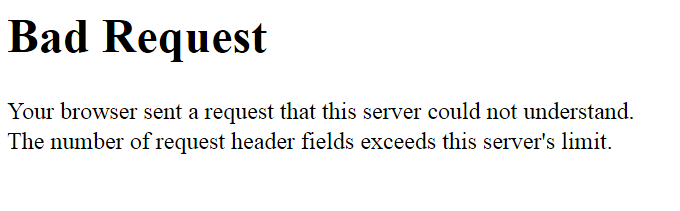 Your browser sent a request that this server could not understand.